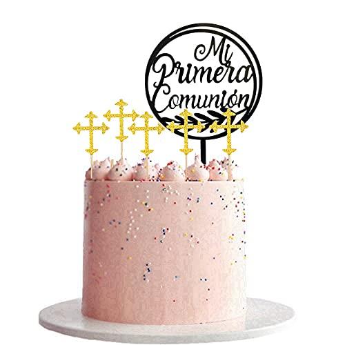 Decoración para tarta de primera comunión,Cupcakes Decoración,Topper de Pastel de Cumpleaños, para Fiesta de Cumpleaños, Baby Shower y Fiesta de Bodas