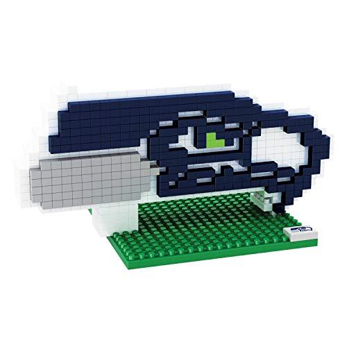 Seattle Seahawks NFL Football Team 3D BRXLZ Logo Puzzle