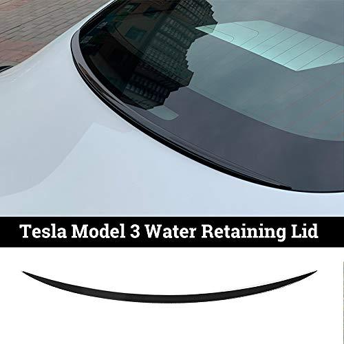 topfit Model 3 Heckspoiler Pedestal ABS Wasserrückhalte Deckel Wing Heckscheibe Performance Spoiler Cover Trim Kompatibel für Model 3