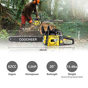 COOCHEER Chainsaw, 62CC 20