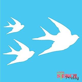 Standard Brilliant Blue Color Material Swallow Bird Stencil - DIY Template-M (17