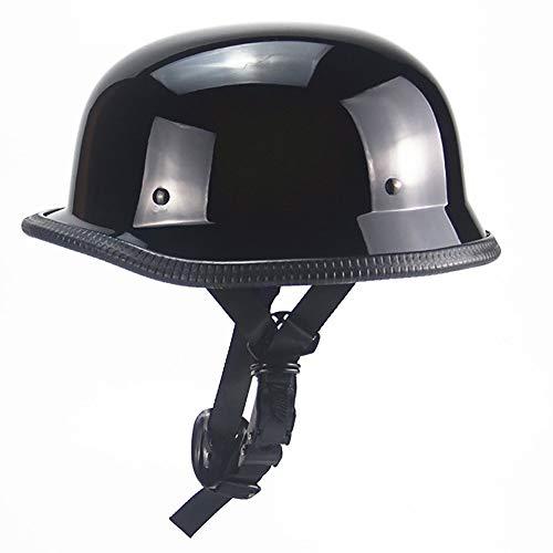 Open Face Helm Jethelm ABS Helm Schnelle Schnalle Autoreifen Streifen StromlinienföRmig Aussehen Retro Helm PersöNlichkeit Harley Halbsturzhelm Motorradhelm DOT Zertifizierung