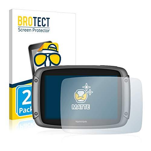 BROTECT 2X Entspiegelungs-Schutzfolie kompatibel mit Tomtom Rider 500/550 Displayschutz-Folie Matt, Anti-Reflex, Anti-Fingerprint