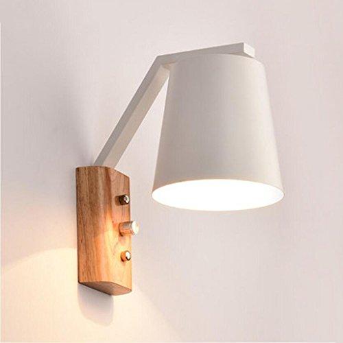 Liu Yu·maison créative, Creative Maison Protection de l'environnement décoratif en métal Blanc Bois LED Lampe à économie d'énergie givré 23cm Lampe de Mur