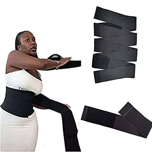 GLEYDY Faja Abdominal Adelgazante Waist Trainer, Fajas Reductoras Mujer para Gimnasio, Ajustable Corsé Adelgazante Cinturón Pérdida De Peso Quema De Grasa Faja Postparto,Negro,3M