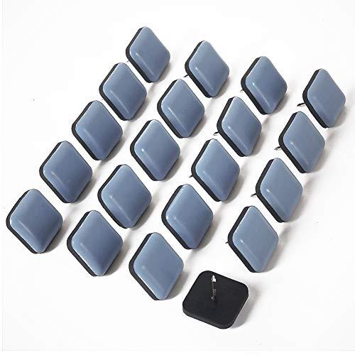 ギノヤ 家具スライダー, 20枚入り 25mm 方形 家具移動パッド ネイル付き 楽々移動 キズ防止・防音