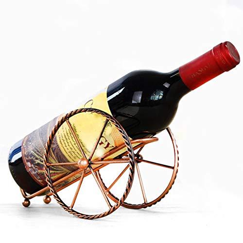 Paon Germany Weinhalter Metall, Design Weinflaschenhalter, Weinständer, Getränkeflaschenhalter Deko Heimdekotration Kanone rustikal, Flaschenhalter, Skulptur, Wohndekoration, edle Flaschendekoration