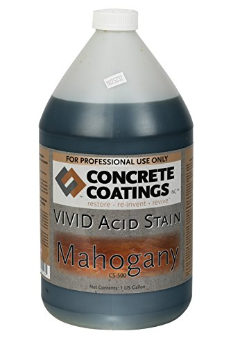 CC Concrete Coatings Vivid Acid Stain for Antique Marble Effect, Concrete Stain for Inside or Outside, Commercial or Residential Use (Mahogany, Deep Rust, Terra Cotta, 1 Gal)