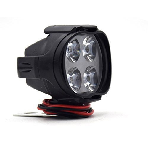 PerGrate 2 Stücke Super Helle Motorrad LED-Scheinwerfer Lampe Roller Nebelscheinwerfer Arbeitsscheinwerfer Licht 12 Watt