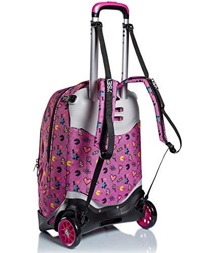 41xfqmn XeL - Trolley Backpack Seven Jack 2WD Starry Rainbow