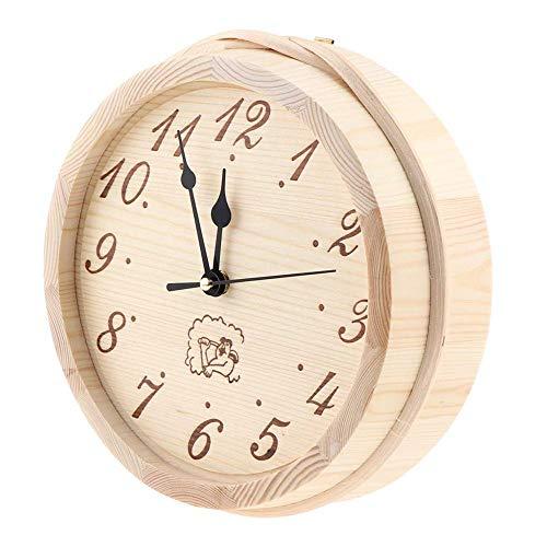 Sauna Uhr, 9-Zoll-Holzsauna Timer Clock - Accurate Display - Wand, Batterien Nicht eingeschlossen - für Sauna-Raum, Haus, Schlafzimmer, Innen- & Außen