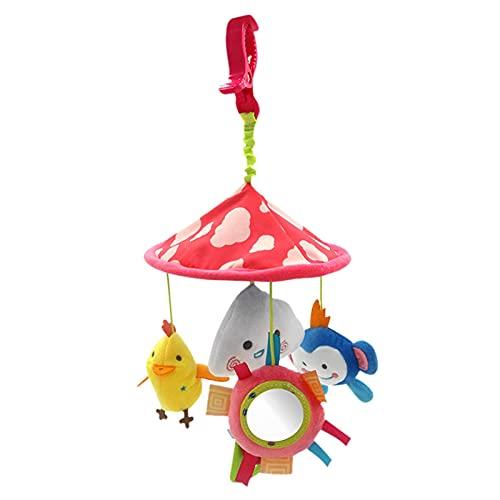 crazerop Mini animal móvil móvil de juguete para bebé, accesorios para cochecito con juguetes para colgar para bebés y niños pequeños a partir de 0 meses