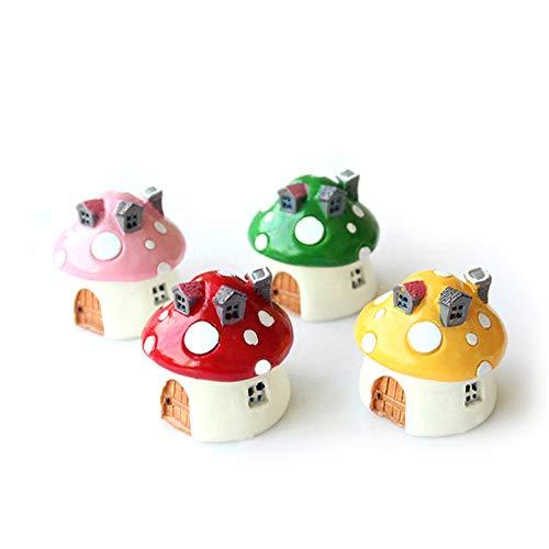 YARNOW Ornamento di Casa Fungo Giardino delle Fate in Miniatura Sculture di Figurine Cottage Giardino delle Fate per Giardino Cortile Giardino delle Fate Decorazioni Ornamentali Prato (4
