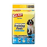 Glad for Pets Heavy Duty Ultra-Absorbent Activated Charcoal Puppy Pads with Leak-Proof edges | Pee Pads for Dogs Perfect for Training New Puppies