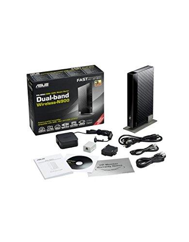 Asus DSL-N66U Gigabit Modem Router ADSL2+, Wireless N900 Mbps, DualBand, Antenne interne Hi-gain con tecnologia AiRadar, 5 porte Gigabit (di cui 1WAN), Nero/Antracite