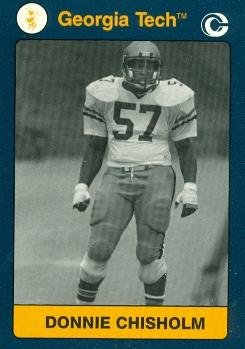 Donnie Chisholm Football card (Georgia Tech) 1991 Collegiate Collection #186