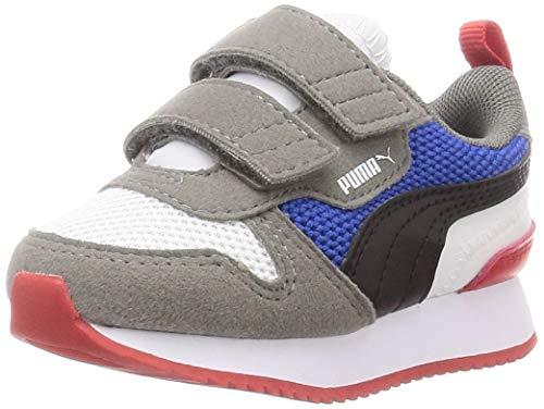Puma Unisex Kinder R78 V Inf Sneaker, White Black Ultra Gray, 23 EU