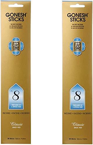 【2個セット】 GONESH(ガーネッシュ) インセンス スティック クラシックシリーズ No.8 (フルーツ系の香り) 20本入 (お香)