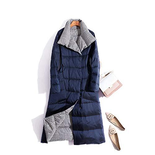 Goods-Store-uk Vrouwen Dubbelzijdig Down Lange Jas Winter Coltrui Witte Eend Down Jas