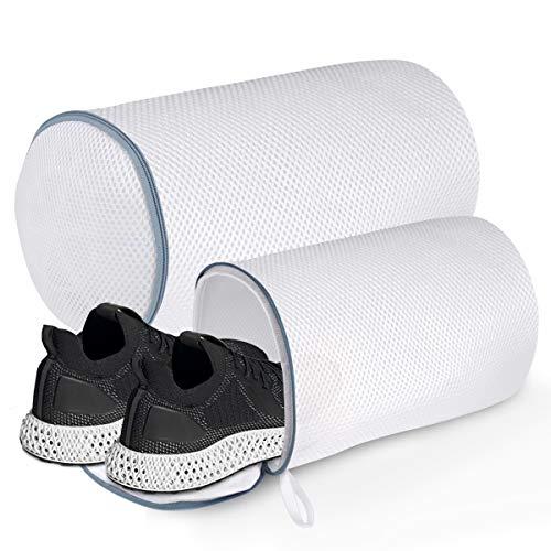 Bolsa de lavandería para zapatos, poliéster con cierre para zapatos, bolsas de lavado, lavadoras y secadoras, bolsa de lavandería...