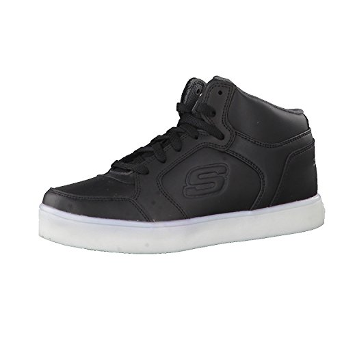 Skechers Boy's Energy Lights Trainers, Black (Black), 2 UK (35 EU)