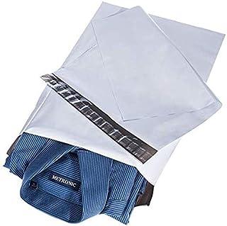 ACKO 宅配ビニール袋 100枚 宅配ポリ袋 宅配袋a4 梱包 配送袋 配送用 ビニール袋 厚手 強力テープ付き 25.4x33cm(白い)