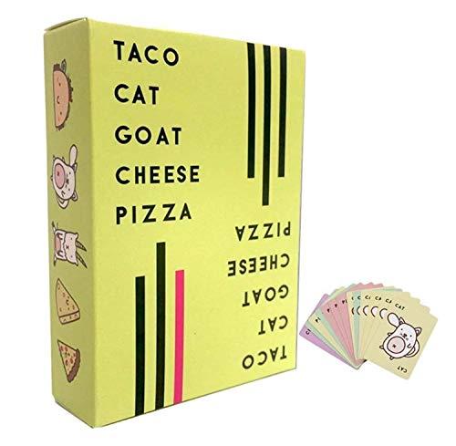 LoMSA Classic Card Board Juego - Taco Cat Goat Queso Pizza Tarjeta Juego, Desarrollo Intelectual, Cerebro práctico, capacitación de Habilidades, comunicación para Padres y niños