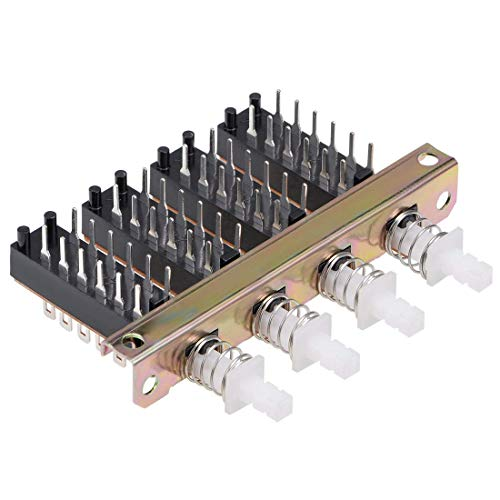 YeVhear - Interruptor de botón de bloqueo con 4 filas de 12 pines
