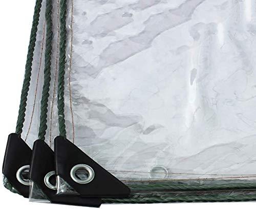 Lona Impermeable Transparente , Cubierta de lona impermeable espesado transparente lona de PVC transparente cobertizo de plástico de tela invernadero con pequeños orificios for prueba de lluvia