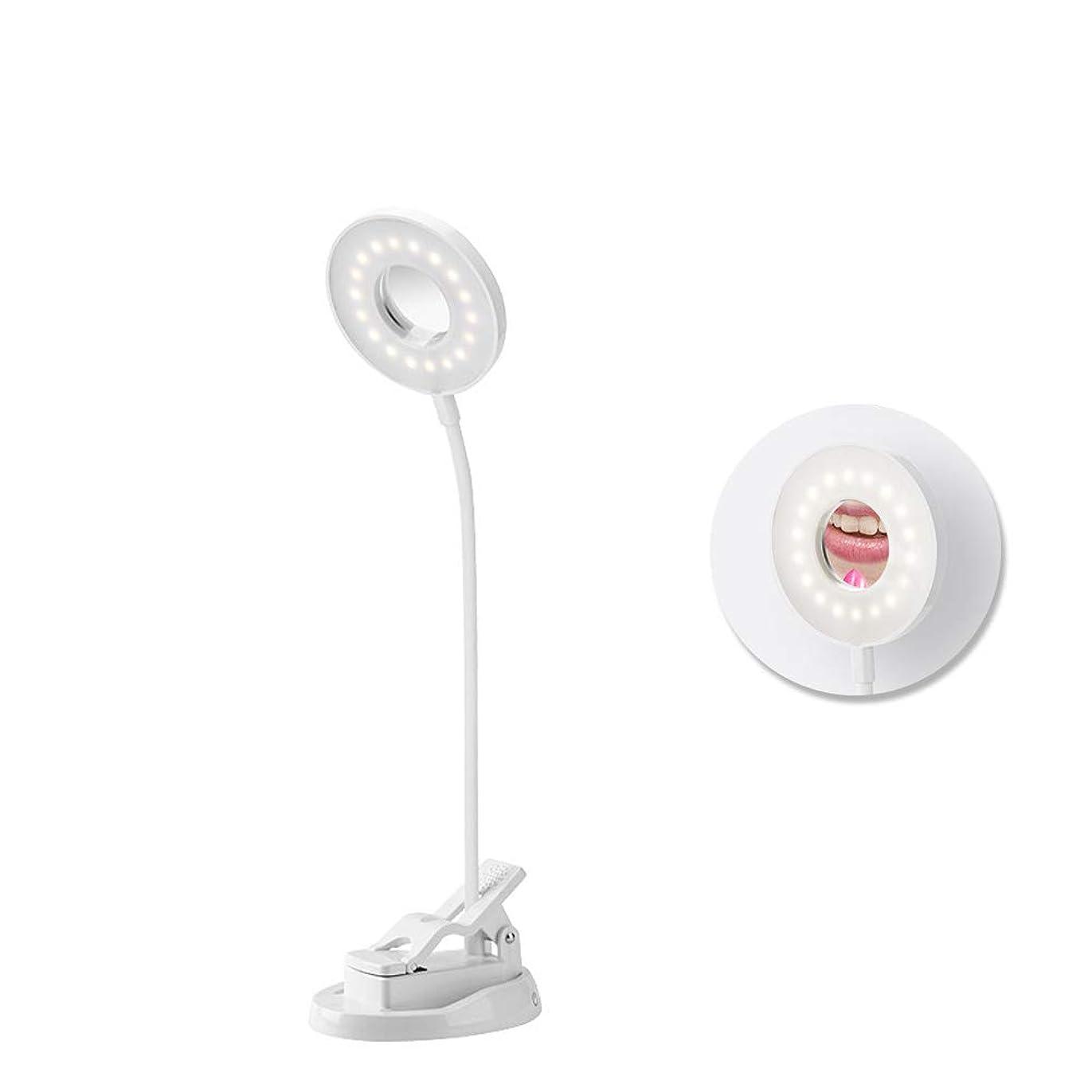 太鼓腹絶望的なしてはいけない化粧鏡 LED付き女優ミラー 卓上スタンド タッチスイッチ調光可 360度回転LEDデスクライト