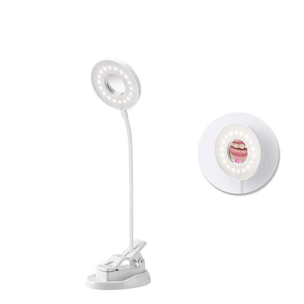 局ワンダーレビュアー化粧鏡 LED付き女優ミラー 卓上スタンド タッチスイッチ調光可 360度回転LEDデスクライト