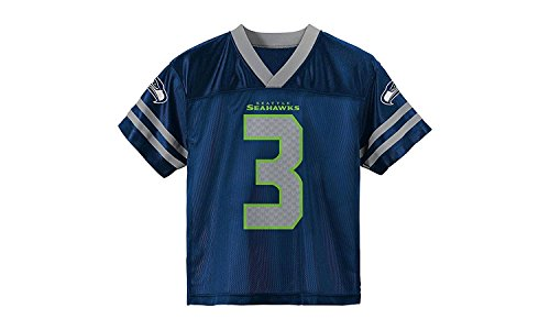 Outerstuff Russell Wilson Seattle Seahawks Youth Navy Jersey X-Large 18-20