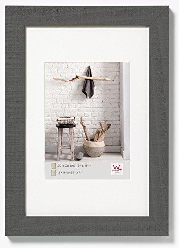walther design HO430D Home Holzrahmen, 1 (24 x 30 cm), grau