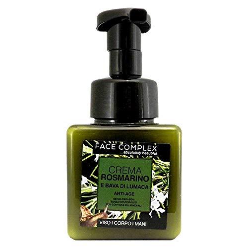 Face complex crema antiedad con romero y baba de caracol antiedad rostro / cuerpo / manos