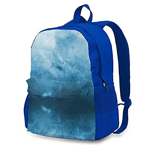 Yaxinduobao Blue Grunge Unisex-Reiserucksack/Laptop-Tasche/Computer-Tasche/Arbeitsrucksack/Fitnessstudio-Sporttasche 12.6x16.5 In Blue*