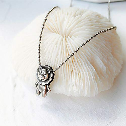 Janly Clearance Sale Women Necklaces & Pendants , Cute Animals Pendant Necklace Little Sterling Silver Words , Valentine's Day Birthday Jewelry Gifts for Ladies Girls (Sliver)