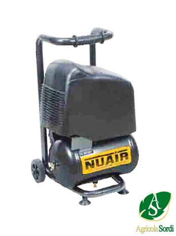 NUAIR COMPRESSORE ELETTRICO 2HP OM231/10 10 BAR 10LT. STRUTTURA IN ACCIAIO