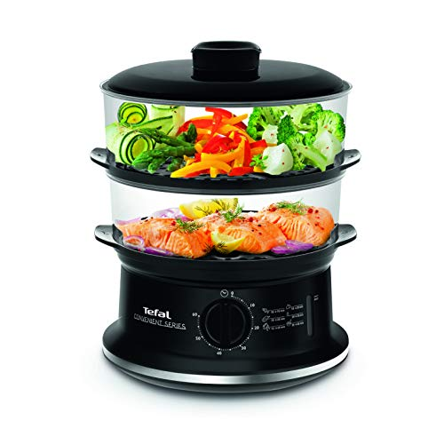 Tefal VC140165 Convenient 2 Bowl Steamer - Black