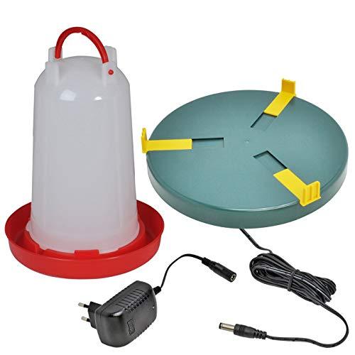 VOSS.eisfrei Geflügeltränke mit Bajonettverschluss 6 Liter Tränkenheizplatte