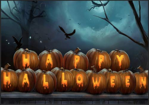 Retro Metal Tin Sign Vintage Happy Halloween Aluminum Sign for Home Coffee Wall Decor 8x12 Inch