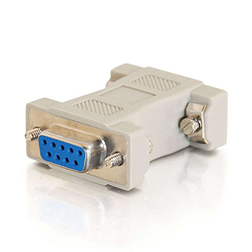 C2G 02457 MultiSync VGA (HD15) Male to DB9 Female Serial RS232 Adapter, Beige