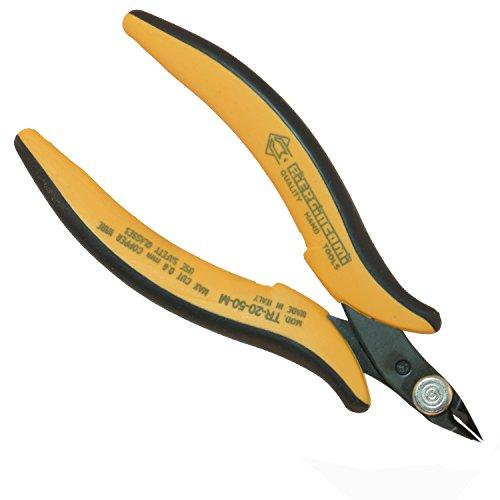 PIERGIACOMI TR2050M utensile Taglienti da 8mm inclinati a 50° per Il Taglio Raso di Rame o Altri Materiali duttili Fino a 0.64 (Ø mm) 22 (awg), Arancione