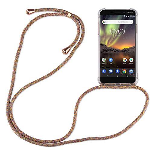 betterfon | Handykette kompatibel mit Nokia 6.1 Smartphone Necklace Hülle mit Band - Schnur mit Hülle zum umhängen in Nokia 6.1 Rainbow