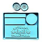 ShiftX4 1 Unidades de molde de bandeja de balanceo con molinillo de hierbas de resina epoxi soporte de joyería de silicona molde DIY manualidades Decortaions herramienta