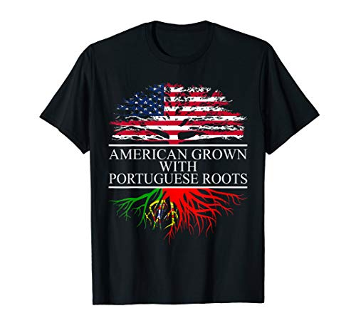 Portuguese Roots, American Grown, Flag of Portugal T-Shirt