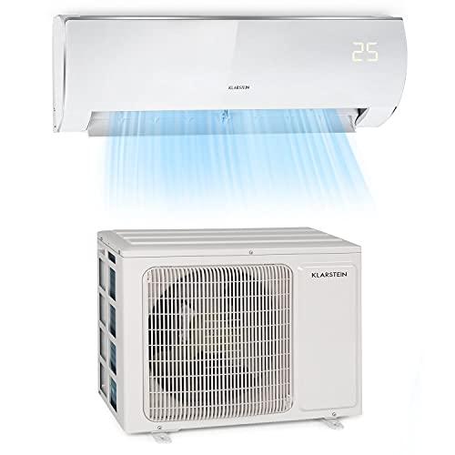 Klarstein Windwaker Eco Split - Klimaanlage, Heiz- und Kühlgerät, Energieeffizienzklassen: A++/A+, 5 Betriebsmodi, 3 Schlafmodi, LED-Display, Fernbedienung, 9.000BTU/2,7 kW, Luftstrom: 610 m³/h, weiß