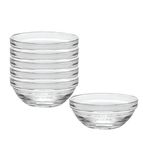 Duralex Made In France Lys 4-3/4-Inch Stackable Clear Bowl, Set of 6