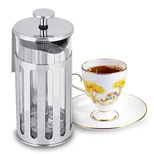 Dzbanek do kawy ze szkła nierdzewnej, uchwyt ze stali nierdzewnej Food Grade Gumowa wylewka filtr netto ekspres do kawy, do kawy w domu ekspres do herbaty Zaopatrzenie do(350ML)