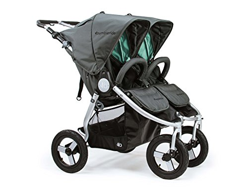 Bumbleride Indie Twin Double Stroller - Dawn Grey Mint