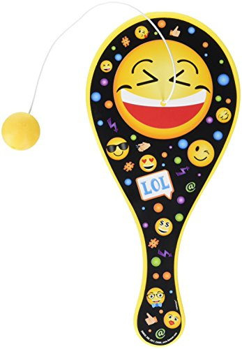Amscan 398633 Emoji Paddle Ball | Party Favor | 1 piece